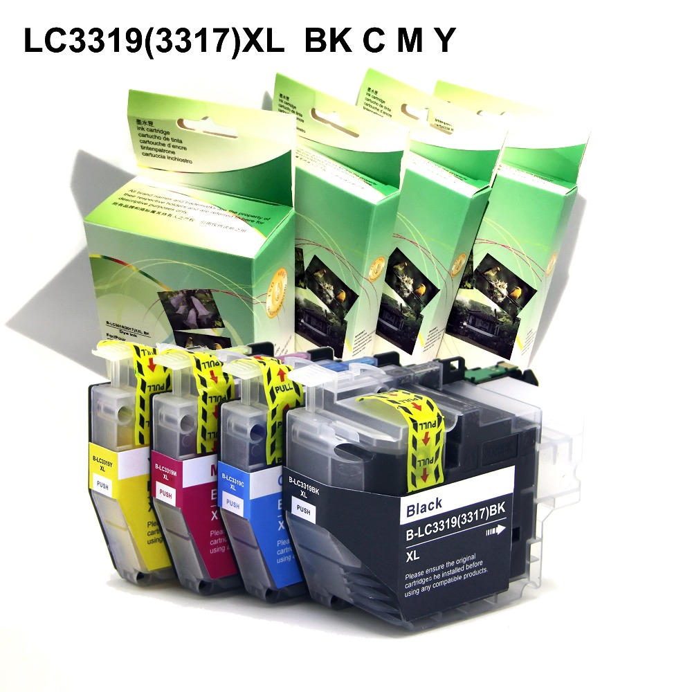 YOTAT (Dye ink) Compatible Ink cartridge LC3319 LC3319XL (LC3317) for Brother MFC-J5330DW MFC-J5730DW MFC-J6530DW MFC-J6730DW yotat 4pcs refillable ink cartridge lc223 for brother dcp 4120dw mfc j4420dw mfc j4620dw mfc j4625dw mfc j480dw mfc j680dw