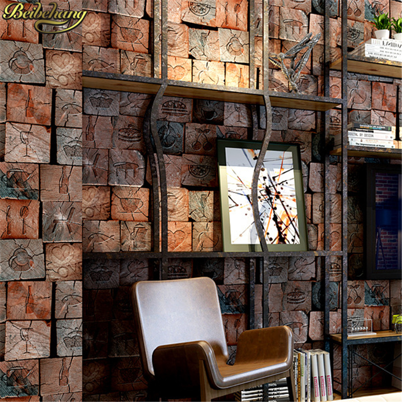 beibehang grain wood wallpapers for living room 3d personality wall covering bar hotel ballroom wall papers home decor flooring цена 2017