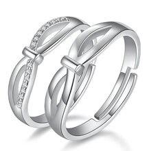 Классическое Обручальное кольцо с фианитом серебро 2019 пробы