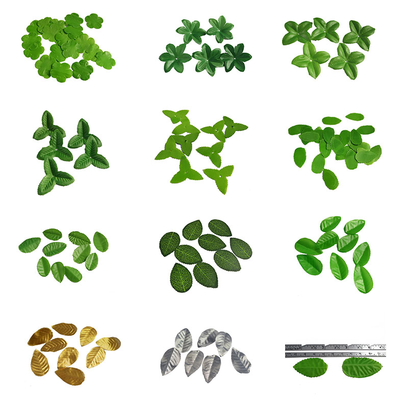 Christmas Leaves.10g Lot Mini Green Christmas Leaves Artificial Flower Leaves For Wedding Decoration Garland Rose Foliage Craft Cheap Foliage 75z In Artificial Dried