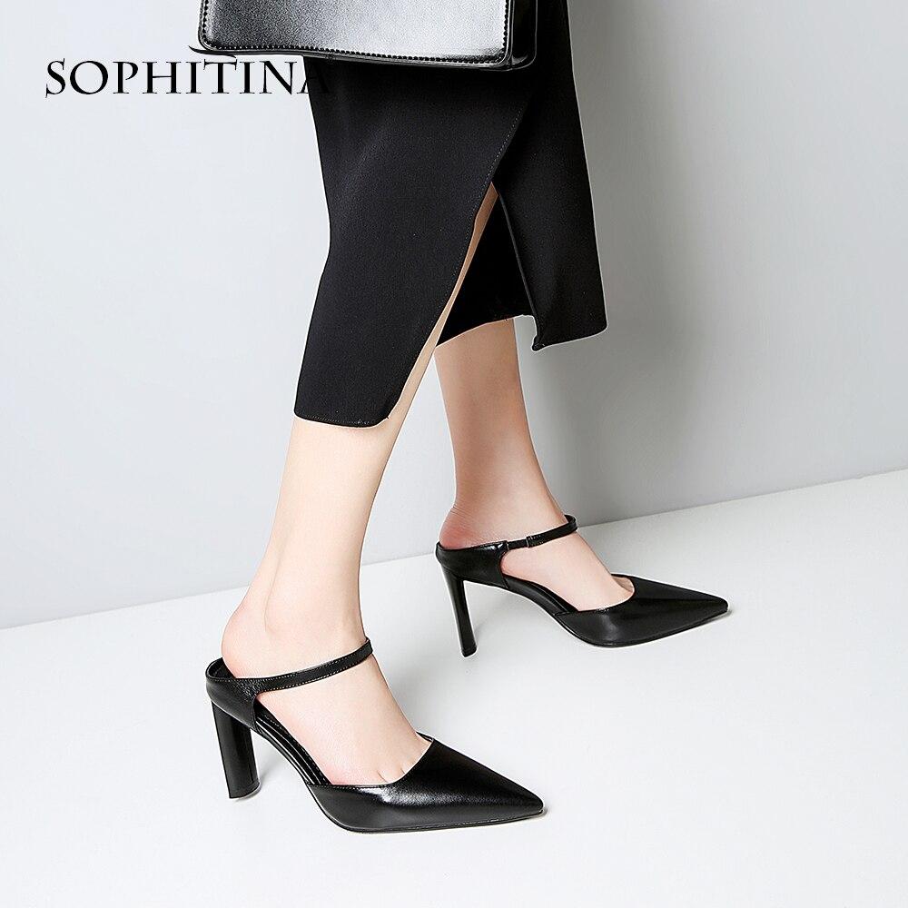 Pratique Slip Concis noir Sophitina Beige Printemps Pour Chaussures Matures Sandales Bande Office Été Élastique Élégant Mo17 Solide Lady 2019 on Nouveau UVSzqGpM