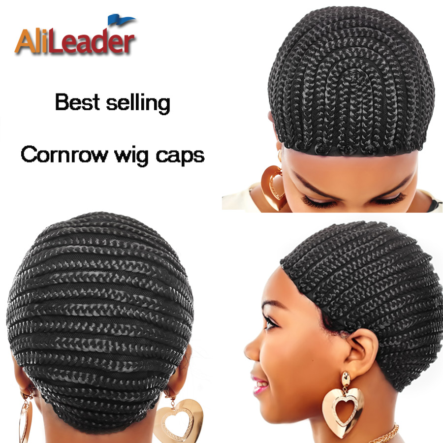 Alileader Hot Selling Cornrow Wig Caps For Making Wigs Factory Supplier Cheap Wig Cap Free Shipping Black Box Braided Wig Caps