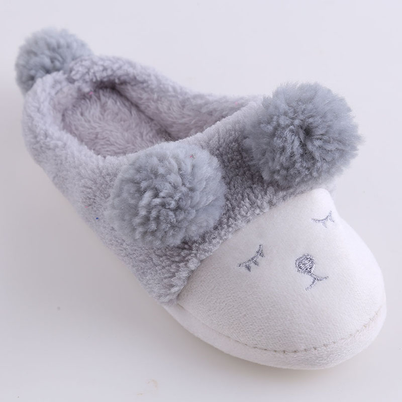 8605389b36587 Women Winter Home Slippers Cartoon Sheep Shoes Non-slip Soft Winter Warm  House Slippers Indoor
