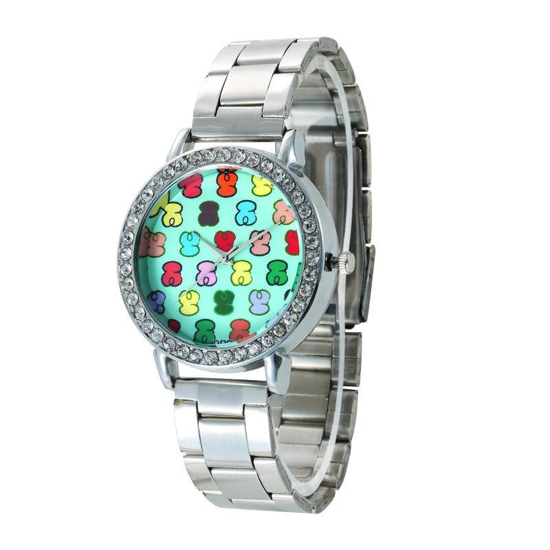 2018 Hot Sale New Fashion Brand Watch Stainless Steel Quartz Watches Ladies Crystal Casual Analog Wristwatches Kobiet Zegarka