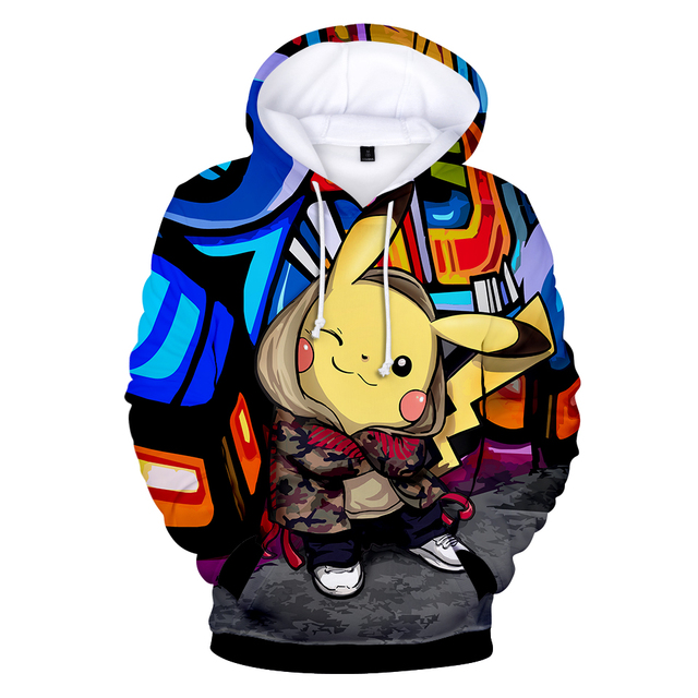 a11aac90372 Pikachu Pokemon Go 3D Graphic Hooded Hoodies Men Women Unisex Sweatshirts  Hoodie Pullover Boys Game Tracksuit