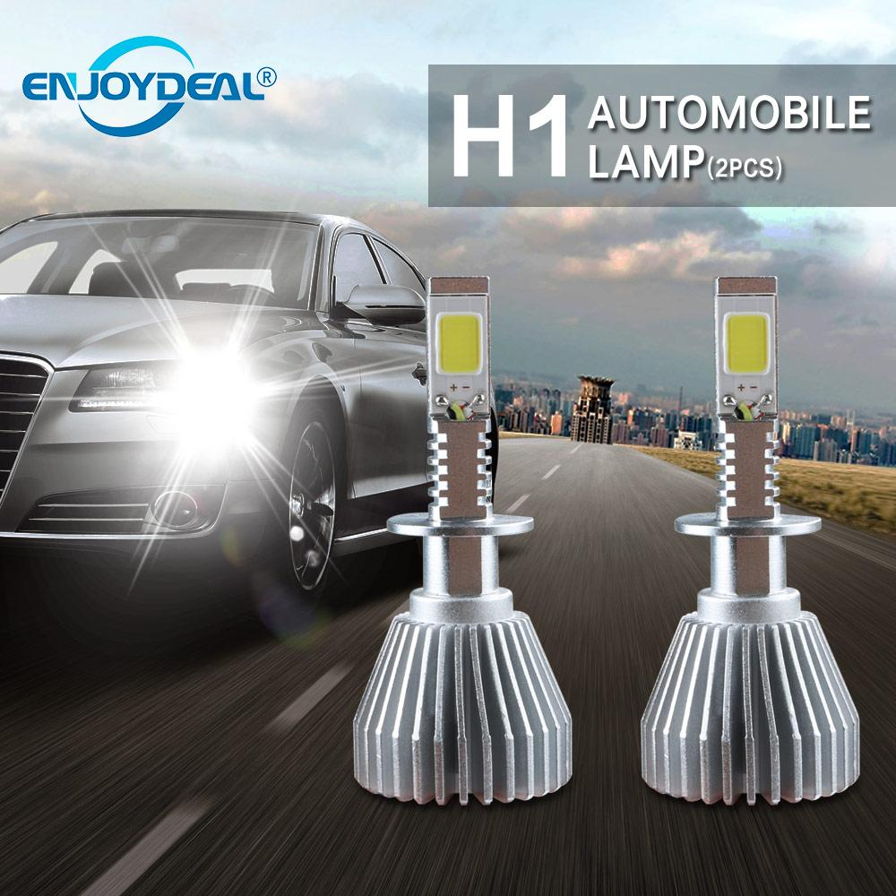2pc Super Bright COB X5 H1 8000LM 80W LED Car Headlight Fog Light Lamp Bulb Auto Head Lamp Lights New Brand