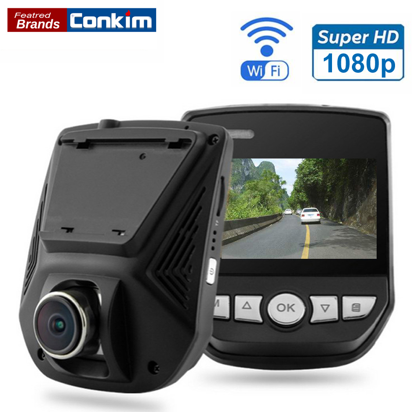 Conkim Car DVR Camera Novatek 96658 DVRs WiFi APP Mini Hidden Cam 1080P Full HD Sony IMX323 Auto Video Recorder Dash Cam GS63H conkim mini car suction cup holder for car cam dvr windshield stents car gps navigation accessories