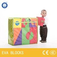 ZBOND 57 шт. (10 см) Супер большой EVA пены строительные Конструкторы Творческий безопасный мягкий яркий цвет для маленьких детей раннего развива