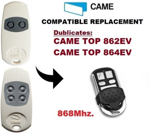 CAME TOP862EV, TOP864EV  868Mhz Garage Door/Gate Remote Control Duplicator SJQ027