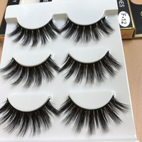 3 Pairs/set Soft 3D Natural Make up Wispy Long Thick Fake Eye Lashes Handmade False Eyelashes Extension Beauty Makeup Tools False Eyelashes