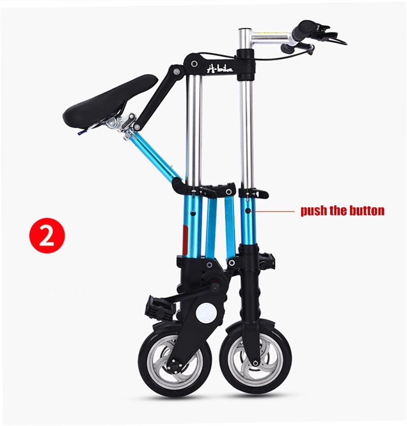 "HTB1lkOdXkH0gK0jSZPiq6yvapXaW Brand New Ultra Light 8""/10"" Mini Folding Bike Bicycle Portable Outdoor Subway Transit Vehicles Foldable Bicicleta"