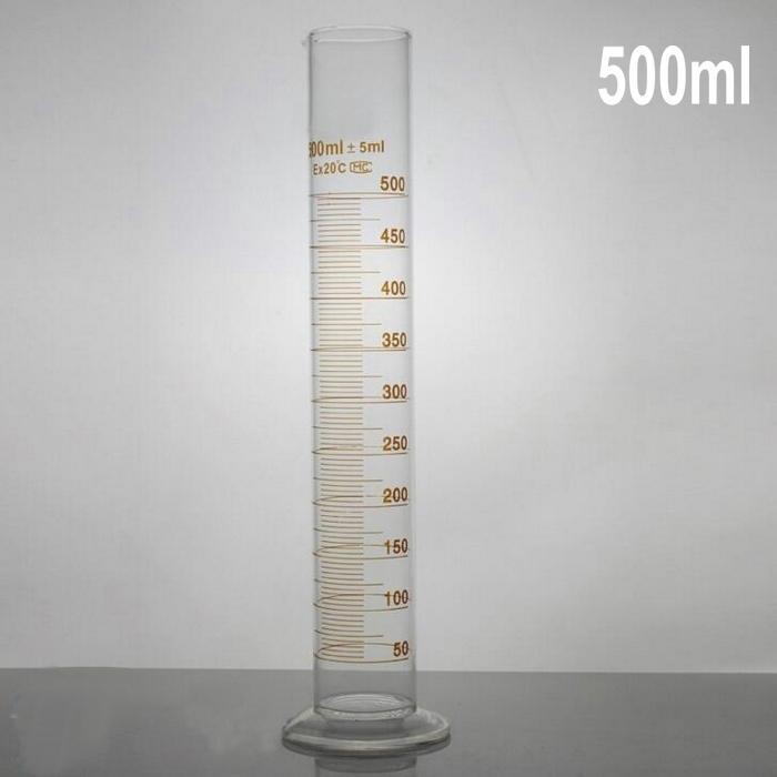 500ml Profession Graduated Glass Measuring Cylinder Chemistry Lab Spout Measure Glassware 1000ml glass graduated cylinder measuring cylinder measuring graduates glass graduate