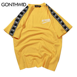 GONTHWID Short Sleeve T-Shirt T Shirts 2018 Cotton Tshirts