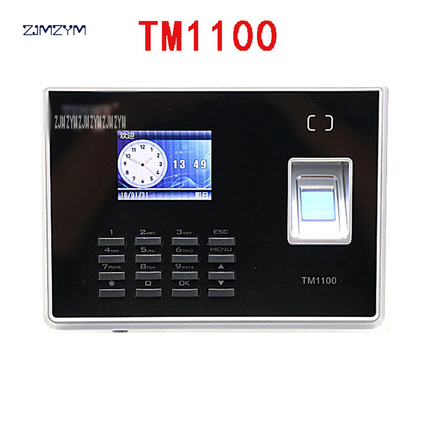 Hot Sale Biometric Fingerprint Student Time and Attendance Tracking Management System TM1100 2.4-inch TFT color LCD screen 5V