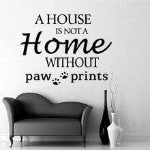 Creative paw prints Sentence Vinyl Wall Sticker For Home Decor Art Decals Wallpaper Poster For Living Room naklejki na sciane цена