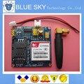 O envio gratuito de 1 PÇS/LOTE Novo SIM900 SIM900A MINI-V4.0 Módulo GSM GPRS de Transmissão de Dados Sem Fio Placa Kit w/Antena
