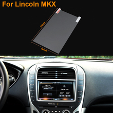Car Styling 8 Inch GPS Navigation Screen Steel Protective Film For Lincoln MKX Control of LCD Screen Car Sticker