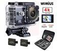 """Wimius 4 k 1080 p 60fps câmera ação full hd 2.0 """"LCD Mini Wifi Cam Esportes Ir DV Saco de Armazenamento de Viagem À Prova D' Água 40 m Pro + Protecção"""