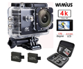 "Wimius 4K 1080P 60fps Action Camera Full HD 2.0"" LCD Mini Wifi Sports Cam Go Waterproof 40m Pro+Protection Travel Storage DV Bag"