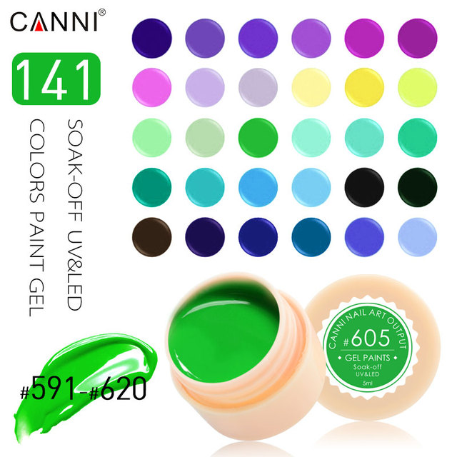 #50618 High Margin Pure Color Nail Painting Color Gel Lacquer 5ml 141 Colors UV Color Gel Varnish