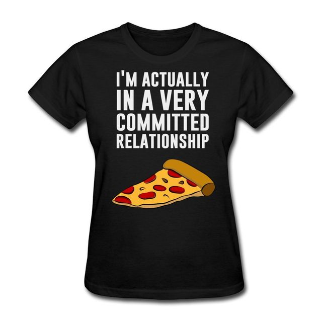 114a01fc7a Pizza Love Serious Relationship Women's T-Shirt Female Harajuk Fashion  Drake Fitness Punk Tops T Shirt On Sale Woman Tee Shirts