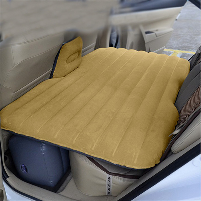 Hot sale Car Back Seat Cover Car Air Mattress Travel Bed Inflatable Mattress Air Bed Good Quality Lit gonflable de voiture durable thicken pvc car travel inflatable bed automotive air mattress camping mat with air pump