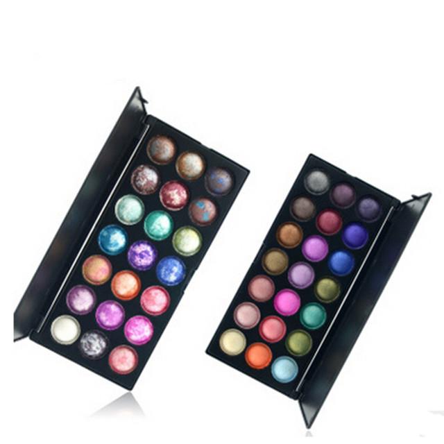 2016 Baked Sombra de Ojos Paleta maquiagem 21 Color Maquillaje Pofessional Metálicos Cosméticos sombra de Ojos Set Kit
