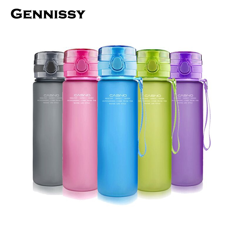 GENNISSY 400/560/650ml My Water Bottle Sports Daily Pill Box Organizer Drinking Bottles For Water Plastic Leak-Proof Tumbler