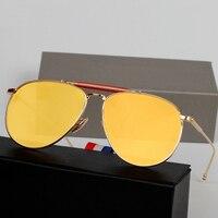 2015 new płaskie lustro okulary pilotażowe okulary kobiety marka projektant pilotażowe okulary mężczyźni królewski styl marki oculos de sol