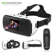 Original VR Shinecon Pro réalité virtuelle 3D lunettes lunettes VR Google carton casque lunettes virtuelles pour téléphone 4-6.0 pouces