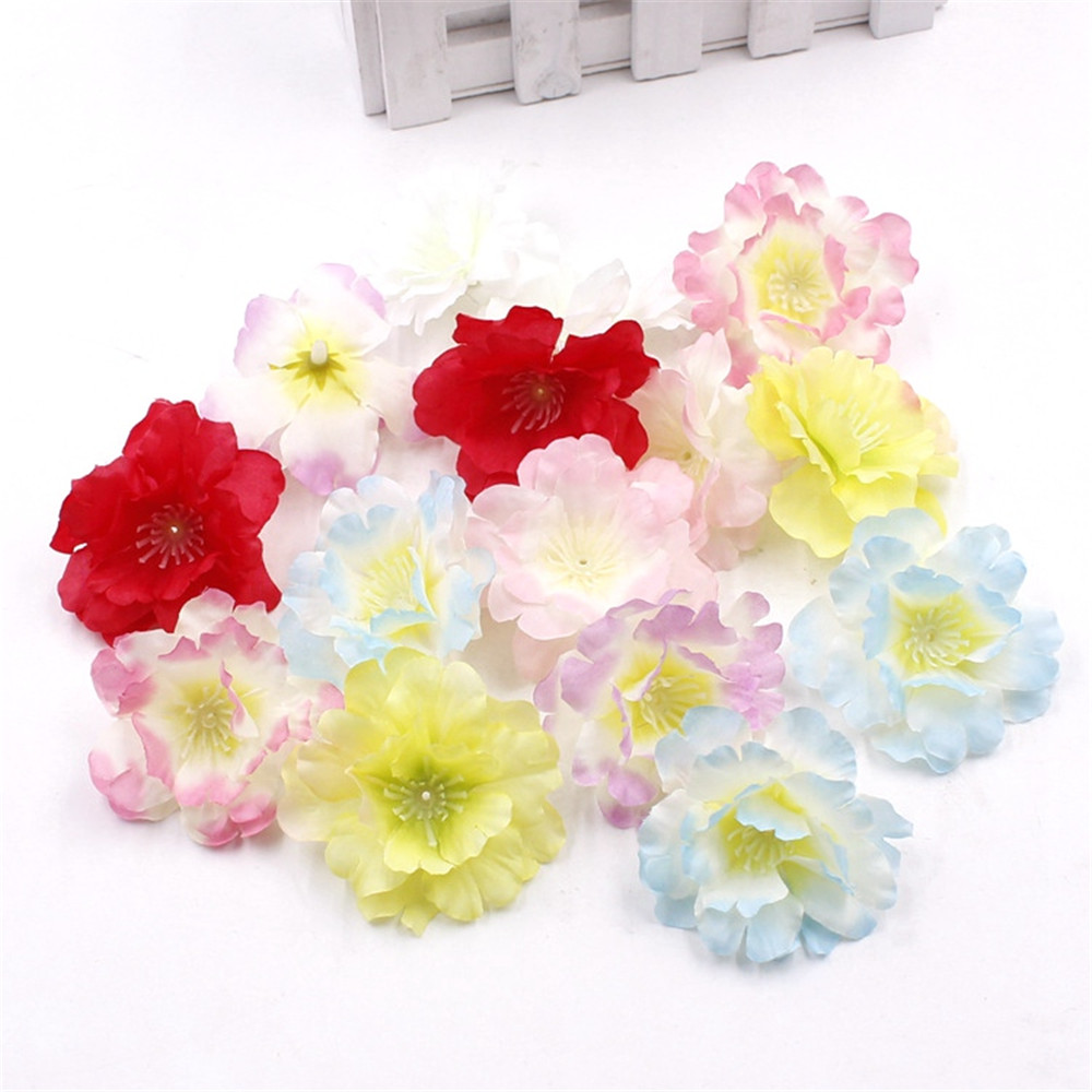 Free Shipping 50pcs Lot 55cm Pink Artificial Silk Cherry Blossom