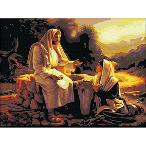 Painting By Numbers DIY Dropshipping 40x50 60x75cm Father Jesus preaching Figure Canvas Wedding Decoration Art picture Gift(China)