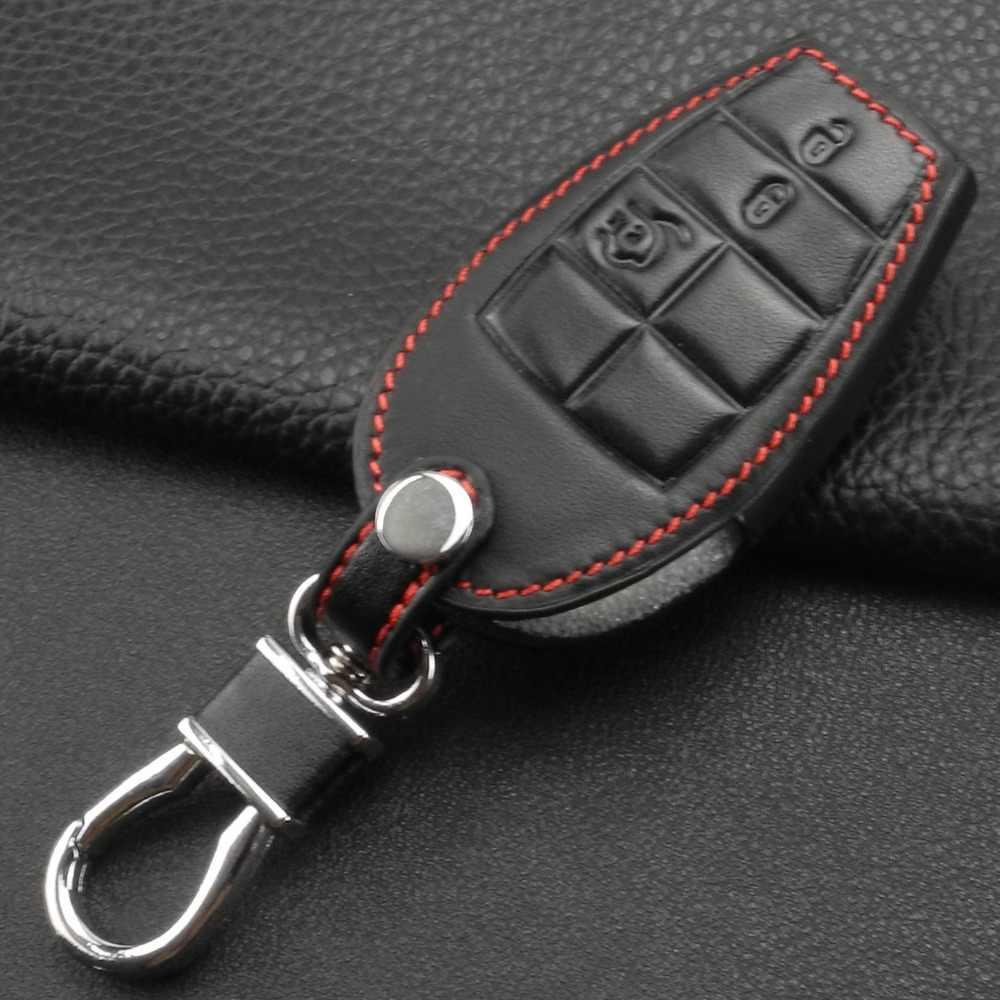 Uzaktan 3/4 B araba anahtarı kılıfı deri Dodge Challenger şarj Magnum yolculuk Ram Jeep komutani Grand Cherokee Chrysler