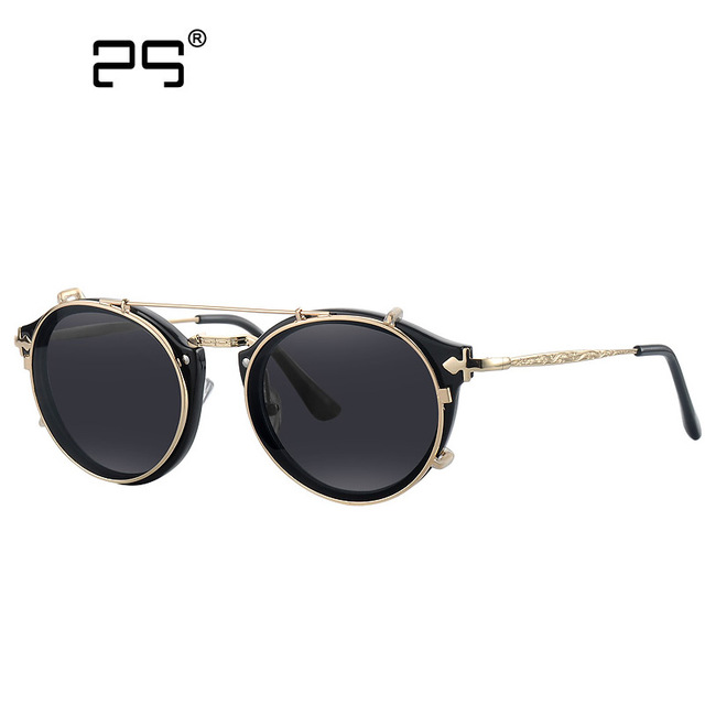 Vintage Sunglasses Womens Round Sunglasses for Women Steampunk Glasses Oculos Redondo de sol Feminino Shades Female Eyewears1813