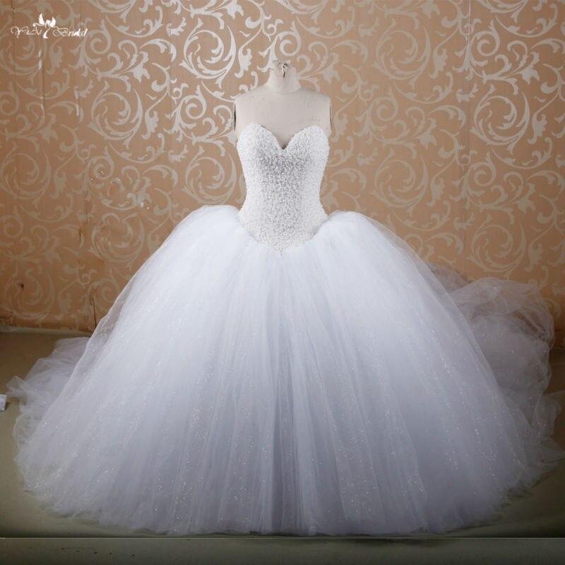 RSW607 cathédrale princesse gonflée/Train Royal acheter robe de mariée robe de bal rouge robes de mariée avec diamants et cristaux