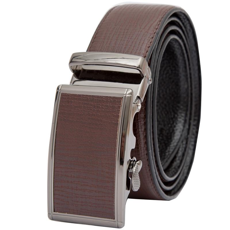 Mens Leather Ratchet Automatic Buckle Leather   Belt  - Adjustable Genuine Leather Dress   Belt   For Men - Click Automatic Buckle   Belt