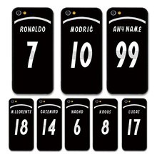 European Football RONALDO MODRIC KROOS Jersey style Real Madrid Custom Names and Numbers case for iPhone 6 plus Phones cases
