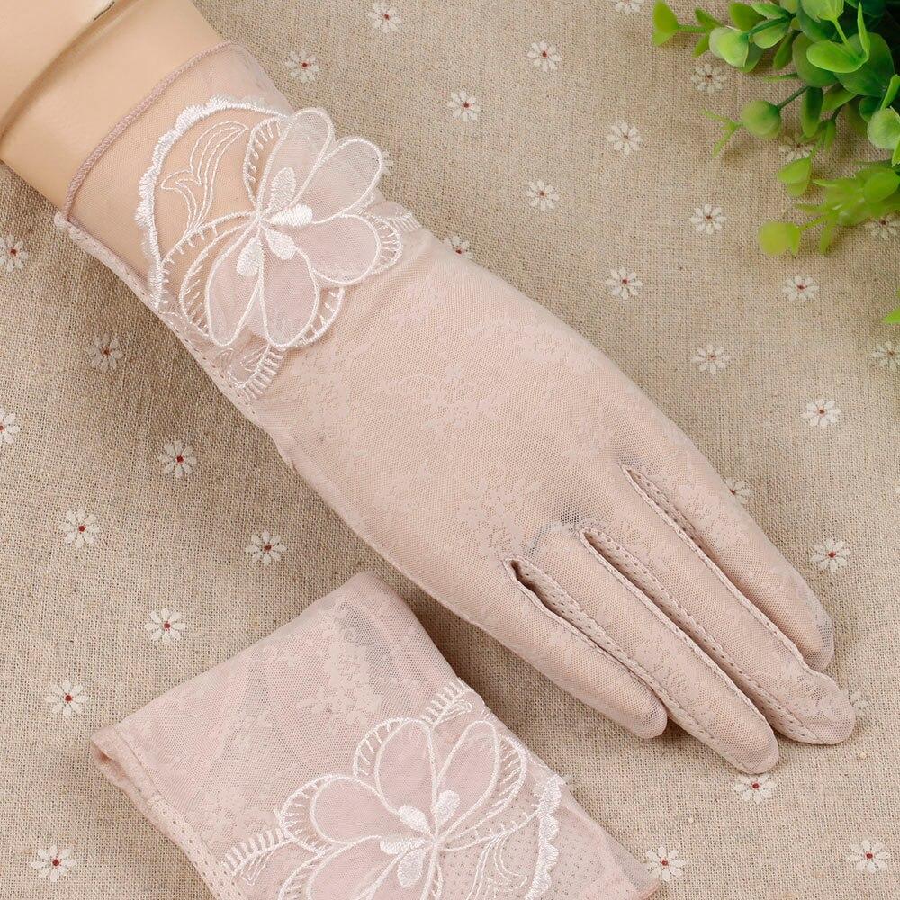 Driving gloves spf - 2017 Women Gloves Antiskid Slip Resistant Uv Protection Touch Screen Mesh Sun Block Short Driving