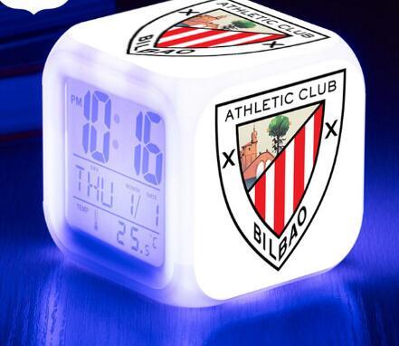 La Liga Football Team/Club LED Alarm Clock Digital Watch Athletic Soccer Club 7 color Chaning clock Children Xmas Gifts Toy