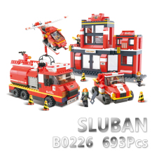 Sluban Model Building Compatible B0226 693pcs Model Building Kits Classic Toys Hobbies Fire Emergency Sets