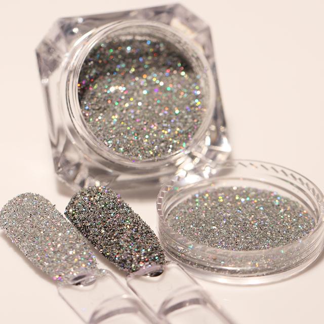 1.8g/box Holographic Nail Glitter Powder