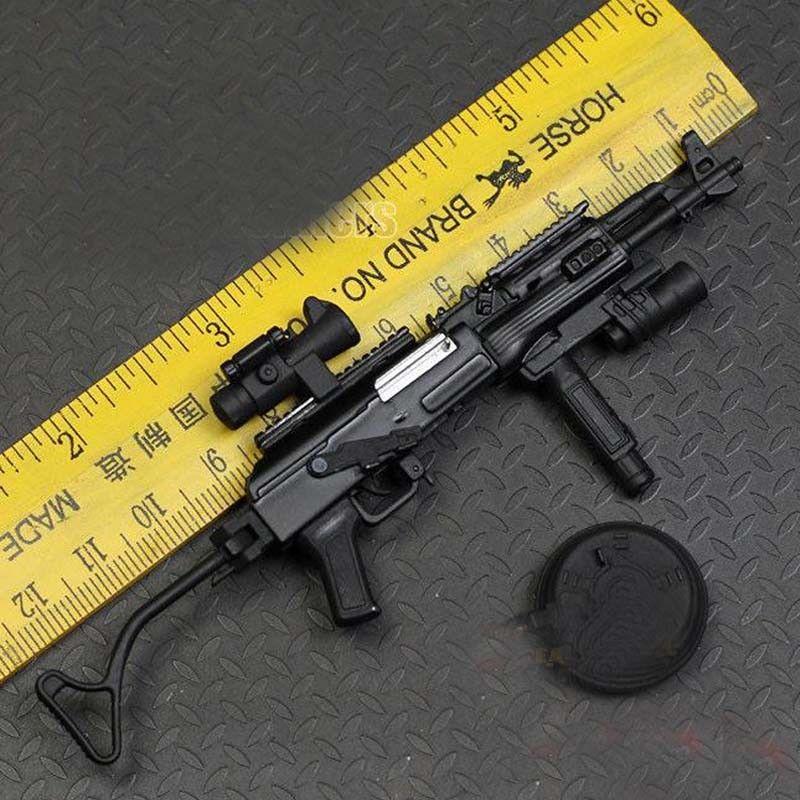 """1//12 Diecast Metal AKM /& M416 pistolets pour 6/"""" ~ 8/"""" Action Figures 13+14 Pubg"""