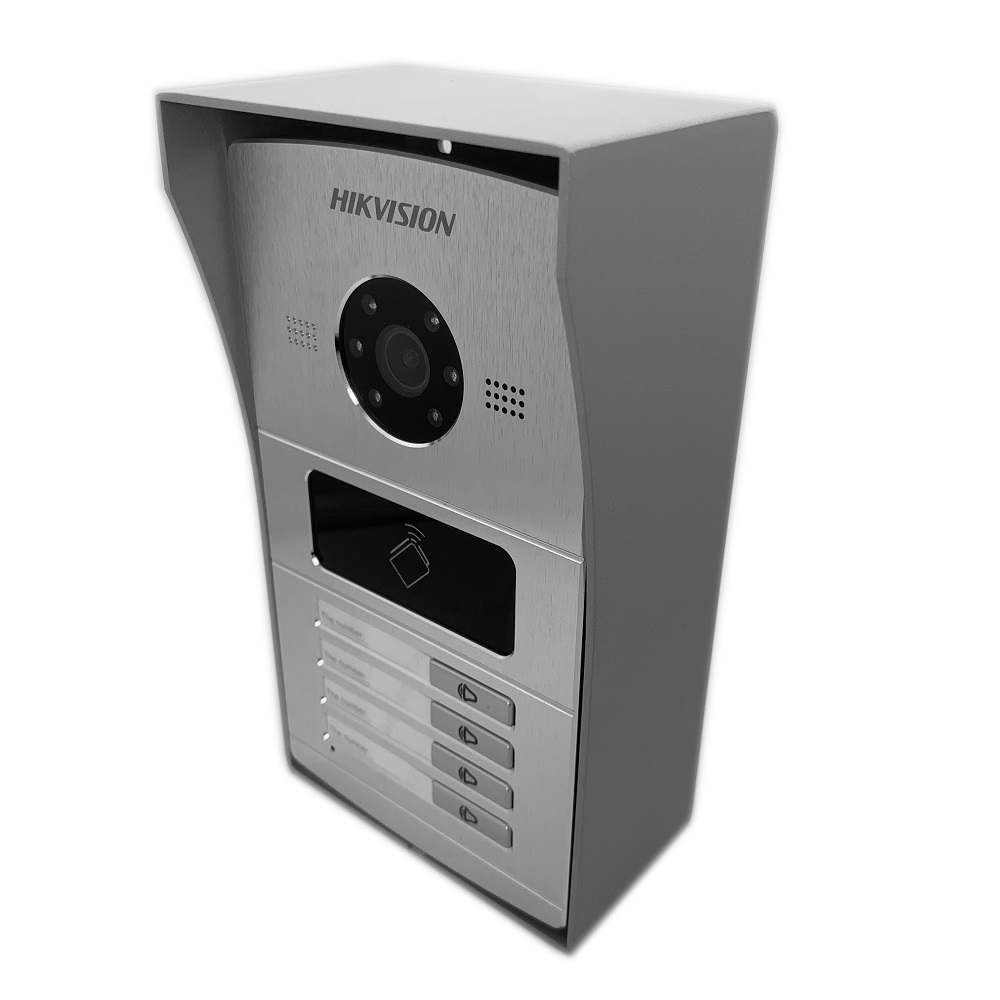 Hik Multi-idioma 1-4 botón IP timbre de la puerta teléfono Video intercomunicador Visual intercomunicador impermeable 13,56 MHz RFID tarjeta IP intercom - 4