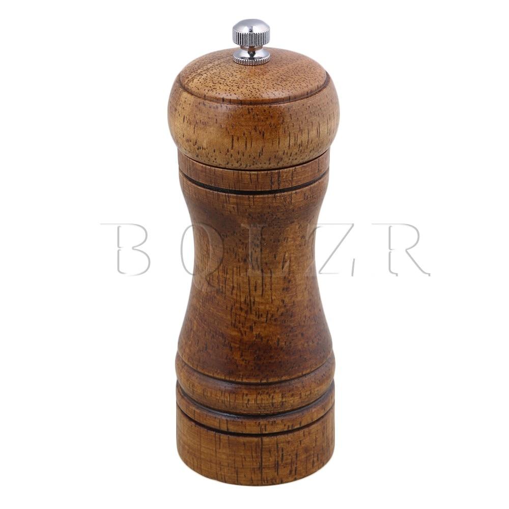 BQLZR 5 Inch Acacia Wood Kitchen Carbon Steel Core Pepper Salt Grinder Hand Muller Spice Herb Mill Fit for Picnic Restaurant franck muller часы franck muller 6002 m qz r steel