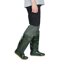 Unisex Lightweight PVC Fishing Waders Boots 360% Rotated Soft Sole Fishing Waders Boot Elastic Belt Overknee PVC Fishing Waders