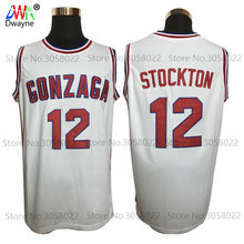 fbc412588e5 2017 Mens Dwayne Cheap Throwback Basketball Jersey John Stockton Jersey  12  GONZAGA BULLDOGS College Vintage Basket Jerseys
