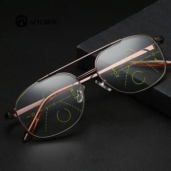 ecbfe8227c Multifocal Progresiva Gafas De Lectura Hombres inteligente De doble uso Gafas  De Lectura De Los Hombres Zoom automático Bifocal AB866