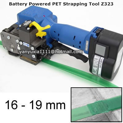 Z323 Automatic Portable&Electric Battery Powered PET PP Plastic Strapping Machine ,PET Hand Strapping Packing Tool for 16-19MM  цены