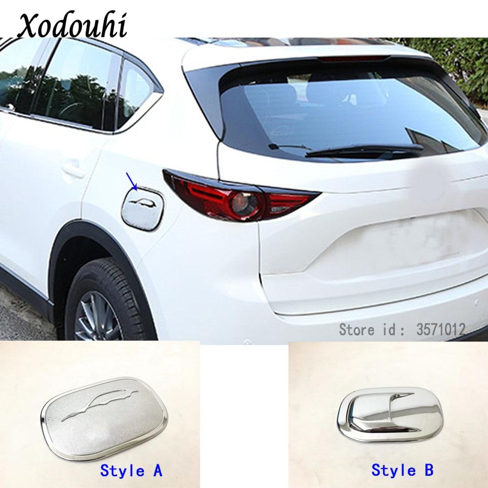 For Mazda CX-5 CX5 2013-2016 ABS Chrome Fuel Gas Tank Cover Trims Trim