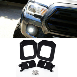 Front Hidden LED Fog Light Mounting Brackets Fits for Toyota Tacoma 2016 2017